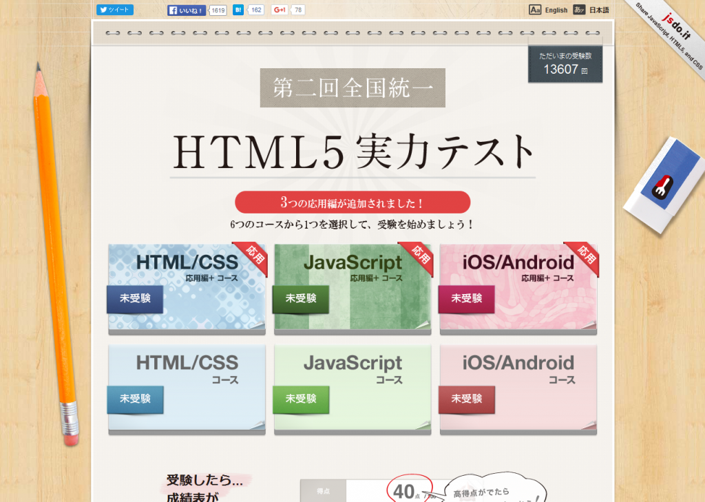 HTML5全国実力テスト