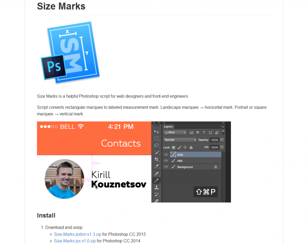 Size Marks PS